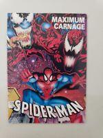 SPIDER-MAN MAXIMUM CARNAGE OFFICIAL CHECKLIST TRADING CARD 1993 MARVEL VENOM HTF