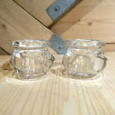 Cauldron/Pot Candle Holders Partylite Set of 2 Clear - Swanky Barn