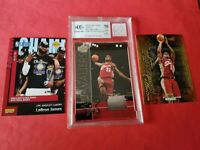 LEBRON JAMES Rookie CARD GRADED BECKETT 10 GAME USED JERSEY INSTANT MVP LAKERS