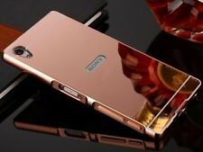 Luxury Aluminum Metal Bumper Case Mirror Back Cover For Sony Xperia Phone S001