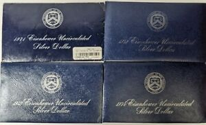 1971/1974 Ike Dollars Four Different - 181753S