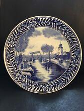 Delfts Keramik, Wandteller, Zierteller, blau, 22cm
