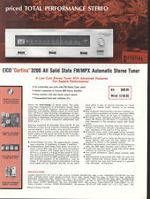 VINTAGE EICO Cortina Audio Hi-Fi Sintonizzatori amplificatori Solid State 1960 S