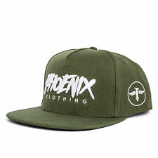 Phoenix Earth Snapback Cap - Olive Grün Fashion Hat Kappe Mütze New Baseball Men
