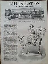 L' ILLUSTRATION 1847 N 208 STATUETTE DE NAPOLEON 1er, par M. LE COMTE D' ORSAY .