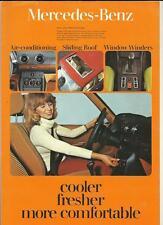 MERCEDES Benz ventilation et climatisation Vente d'équipements brochure juillet 1978