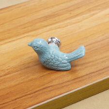 Birds Ceramic Door Knobs Cabinet Drawer Wardrobe Cupboard Kitchen Pull Handle