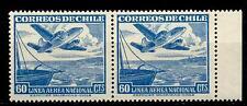 CHILI - CILE - PA - 1950/53 - Serie ordinaria. Aereo e teleferica 60 cent. coppi