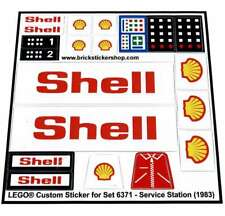 Lego® Custom Pre-cut Sticker for Classic Town Gas Station 6371 - Service Station