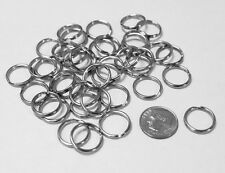 """144pc Silver Tone 15mm (5/8"""") Round Split Rings Key Ring Jewelry Findings"""