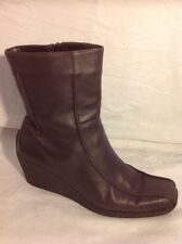 New Look Brown Ankle Leather Boots Size 5