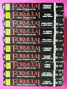 Lotto Stock 10 VHS FORMULA 1 I Bolidi,Le Vittorie,Gli Eroi SERIE  no dvd (V220)