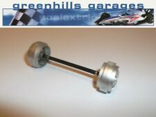 Greenhills Scalextric Maserati Trofeo Cambiocorsa Front Axle & Wheels Silver ...