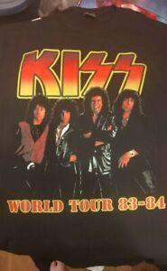 KISS VINNIE VINCENT LICK IT UP WORLD TOUR T-SHIRT XL 1983
