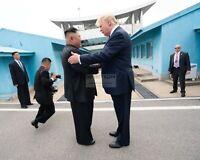 PRESIDENT DONALD TRUMP AND KIM JONG UN NORTH OF KOREA DMZ - 8X10 PHOTO (SP142)