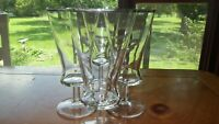 Vintage Ice Tea Glasses Water Glasses platinum trim era 6 10oz Contessa Italy