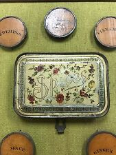 Antique Spice Cover Tin's Picture 22 X 16