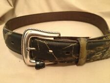 """Geninue Leather and Camo Belt 34""""     TH"""