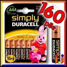 160 BATTERIE DURACELL SIMPLY PILE ALCALINE MINISTILO AAA 1,5V MN2400
