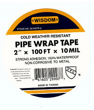 "3pack  2"" x 100' x 10 mil Pipe Wrap Tape/ UPC Approved PVC Pipe Wrapping Tape"