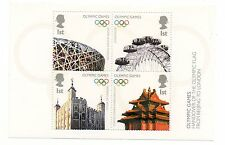 GB 2008 Handover of Olympic Flag unmounted mini / miniature sheet MNH stamps