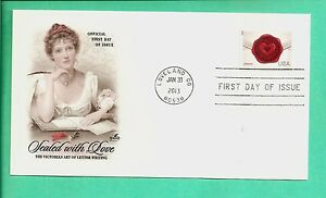 #4741 46c SEALED WITH LOVE FIRST DAY COVER, ARTCRAFT CACHET, MACHINE CANCEL