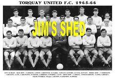 TORQUAY UNITED F.C.TEAM PRINT 1965-66 (BENSON / WOLSTENHOLME / O'FARRELL)