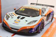 """SCALEXTRIC C3715 MCLAREN 12C GT3 """"GULF"""" MACAU GT CUP 2014 NEW 1/32 SLOT CAR DPR"""
