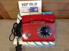 New! VTG 1995 Rotary Dial Phone Desk Red Soviet Russian Made in USSR+Box+Manual