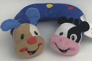 Fisher Price Infant Pillow Neck Head Support Cow Puppy 2007 Bright Colors