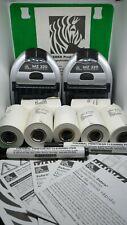 2 Printers Zebra MZ 320 Printer Thermal And Rolls Set Bluetooth Usb Mobile