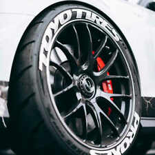 """Tire Lettering TOYO TIRES PROXES 1"""" tall Permanent Stickers 15""""-24"""" decal"""