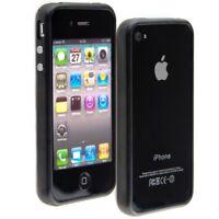 TPU SILICONE BUMPER FOR APPLE IPHONE 4 4S BLACK ALU BUTTON SOFT CASE COVER