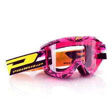 Progrip Motorrad Cross Brille 3450 Topline in Farbe Pink