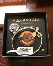 Alex and Ani  OUROBOROS Russian Silver Finish Charm Bangle New W/ Tag Card & Box