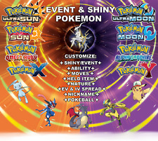 Any Custom 6IV Shiny/Event Pokemon Ultra Sun Moon ORAS XY 3DS Competitive Guide