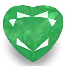 14.61-Carat Rare Bright Grass Green Natural Heart-Shaped Colombian Emerald