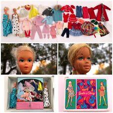 VTG Barbie Double Carrying Case LOT Barbie Clothes