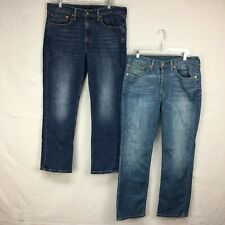 Lof Of 2 Used Levis 514 Straight Fit Light And Med Wash Denim Jeans Men Sz 35x30