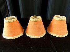 LOT 3 ABAT JOUR TOILE DE JUTE FIXATION HAUT LUSTRE LAMPE APPLIQUE VINTAGE / N°4