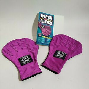 Aqua Jogger Water Workout Gear Water Gloves Small Purple
