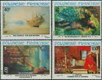 French Polynesia 1983 Sc#C202-C205,SG409-412 20th Century Paintings set MLH
