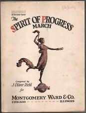 Spirit of Progress 1928 Advertising Montgomery Ward's Riverside Hour Sheet Music