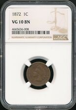 1872 Indian Cent NGC VG 10 BN *Semi-Key Date*