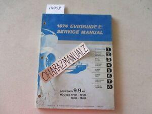 1974 EVINRUDE 9.9 HP Sportwin Motor Engine Service Manual