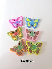 25 un. Madera Mariposa granos mezclan de color de la fabricación de joyas Craft UK