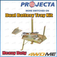 Mitsubishi Pajero Heavy Duty PROJECTA Dual Battery Tray Auxiliary Complete Kit