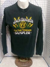 Vintage Jack Daniels tennessee No 7 Whiskey long sleeve screen stars T-Shirt LG