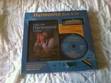 Play The Harmonica Today Book & Kit Includes 10 Hole Swan Harmonica Nib