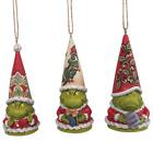 Jim Shore Set of 3 Grinch Gnome Ornament 6009537 JS 2021 NEW
